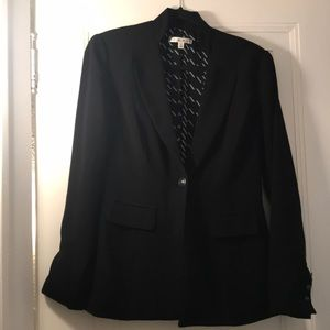 Cabi black blazer lightweight with mandarin collar